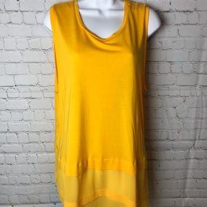 NWT Micheal Kors Sunflower Yellow Shirt